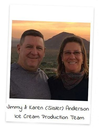 1 Karen Sisler Anderson and Jimmy Anderson ice cream production2